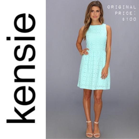 55630556f1232 Kensie Dresses   Skirts - 🎀 KENSIE Crotchet Eyelet Dress Mint XL Cotton